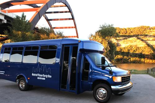 Our blue party bus.