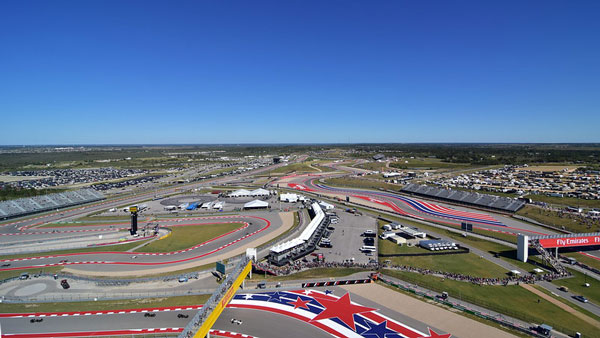 View of the Circuit of the Americas race track in Austin, Texas.