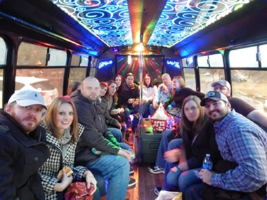 Ivalous hill country wine tour in the Central Texas Party Bus