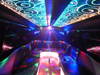 Inside the party bus at Central Texas Party Bus